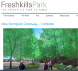 The New Springville Greenway was confirmed to be complete by Freshkills Park administrator Eloise Hirsh. (Image by Freshkillspark.org)