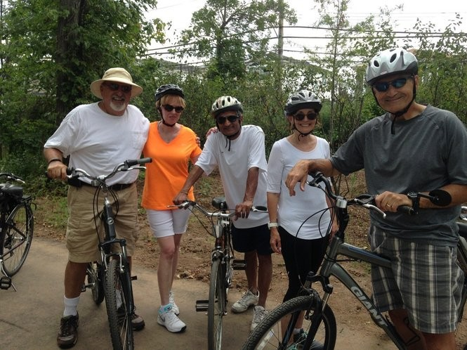 Randall Manor resident and cyclist, Mimi Verrilli, is seen enjoying the New Springville Greenway with her cycling company. (Staten Island Advance/Michael Tatar)