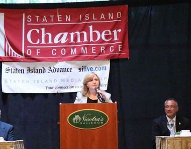 """With a number of high-profile projects happening on our shores, interest in doing business on Staten Island is booming,"" said Linda Baran, president and CEO of the Staten Island Chamber of Commerce. (Staten Island Advance/ Jan Somma-Hammel)"