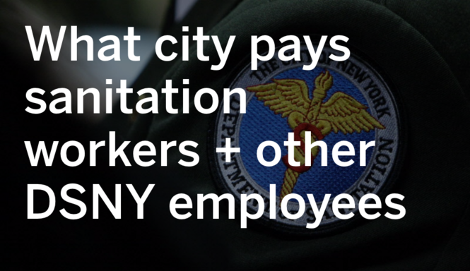 How much city pays sanitation workers and other DSNY