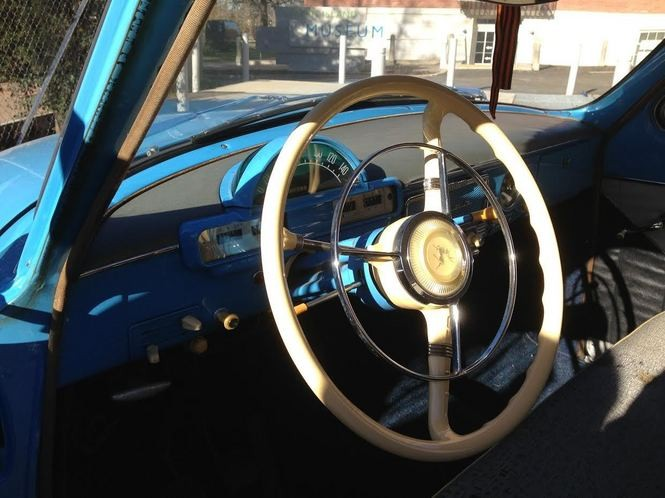 A view from the driver's seat inside the 1967 GAZ-M21 Volga. Built from thick steel, the M21 was a sturdy beast that could look menacing in black. (Staten Island Advance/Claire Regan)