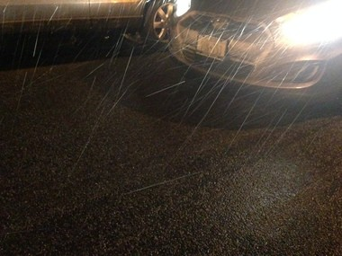 DRIVE WITH CAUTION: There is a slight coating of snow and ice on Tioga Street and Clove Road in Sunnyside.