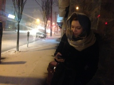 NOT FUN: Commuter Nadia waits for a bus on Bay Street in Stapleton.