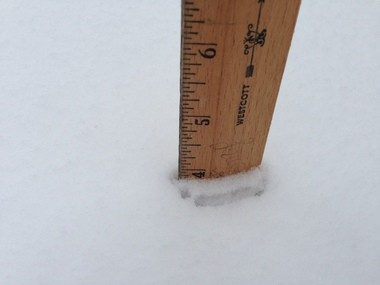 4 INCHES: Dongan Hills, 9:40 a.m.