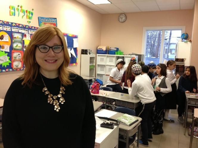 "Dina Khukhashvili, Judaic studies principal at Staten Island Hebrew Academy, is affectionately called ""Mrs. K"" by her students. (Staten Island Advance/Claire Regan)"