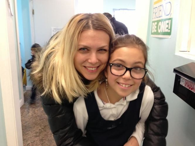 """We like the individual attention and small class sizes"" at Staten Island Hebrew Academy, says Julia Motina, joined by her daughter, third-grader Dana Binkevich. (Staten Island Advance/Claire Regan)"