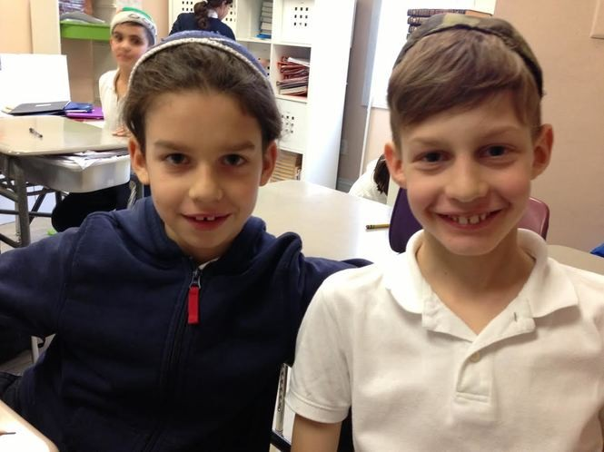 Elliot and Zachary Agres are twins in the fourth grade at Staten Island Hebrew Academy. (Staten Island Advance/Claire Regan)