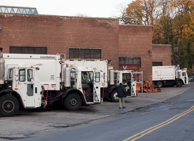 A 2009 file photo of the sanitation garage on Jersey Street.