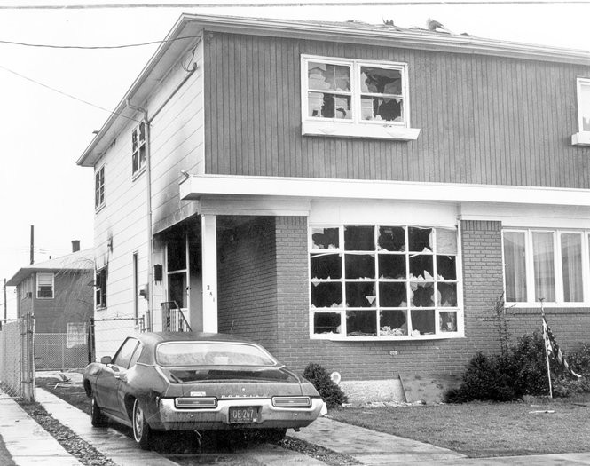 The day before a black family was set to move into this New Dorp home in 1972, arsonists torched it. (Staten Island Advance photo)