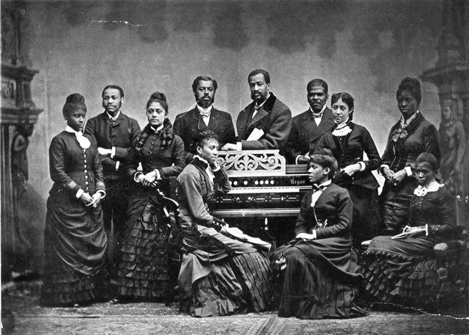 Tyehimba Jess writes about the Fisk Jubilee Singers, an African-American a cappella ensemble of students from Fisk University in Nashville, pictured here in 1882. (Wikimedia Commons)