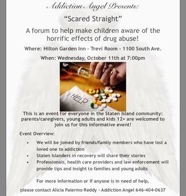 Addiction Angel' forum Oct  11 at Hilton Garden Inn - silive com