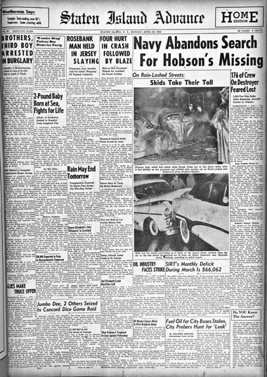 Advance historic page from April 28, 1952.