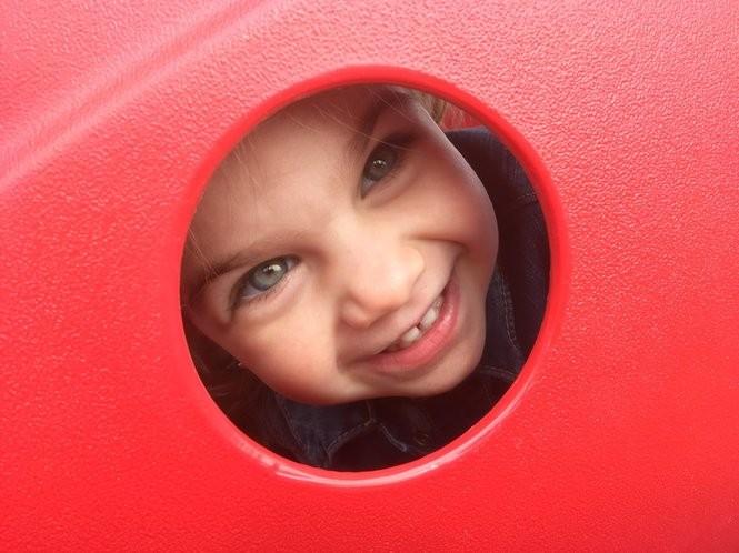 Jacqueline Buttacavoli, 2, has fun in the Children's Harbor Montessori School play area. (Staten Island Advance/Claire Regan)