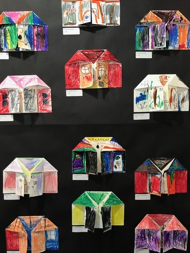 Students at PS 59 created artwork on display in the Staten Island Children's Museum, Livingston. (Photo courtesy of Jennifer Dudley)