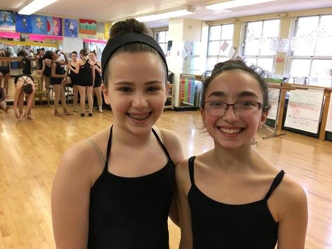Eighth-graders Jada Alcott and Skylar Gambale are dance majors at Morris Intermediate School. (Staten Island Advance/Claire Regan)