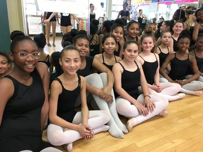 Dance majors wait to rehearse their pieces in the Morris Intermediate School studio. (Staten Island Advance/Claire Regan)