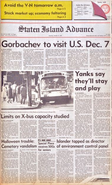 Advance historic page from Oct. 31, 1987.