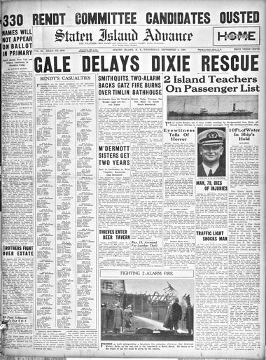 Advance historic page from Sept. 4, 1935.
