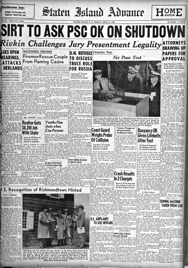 Advance historic page from April 11, 1952.