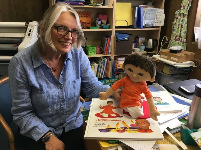 """It's the job of a lifetime,"" says Donna Rettle, education director at Castleton Hill Moravian Preschool. Her office doubles as a resource room for the teaching staff. (Staten Island Advance/Claire Regan)"