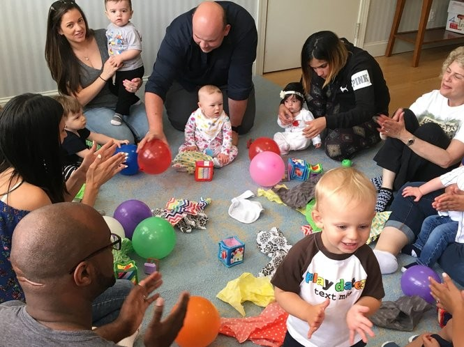 Parents spend quality time with their children during the weekly Baby Buzz session at Castleton Hill Moravian Preschool. (Staten Island Advance/Claire Regan)