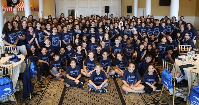 Fifth-graders from PS 69, New Springville,gather at the Vanderbilt, South Beach, for theirSenior Dance Day. (Photo courtesy of Kim Capasso)