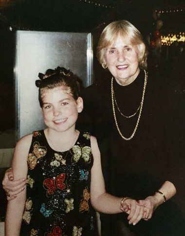 """SILive.com's Multimedia Specialist Shira Stoll with her """"third grandma,"""" Helen Freibrun, at her brother's Bar Mitzvah in 2001. Helen is her inspiration for the 2018 """"Where Life Leads You"""" Staten Island Holocaust project. (Photo courtesy of Shira Stoll)"""
