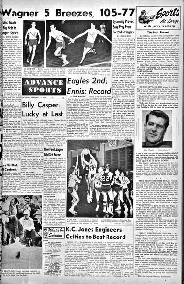 Advance historic page from Feb. 8, 1965.