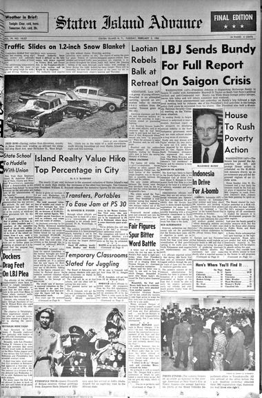 Advance historic page from Feb. 2, 1965.