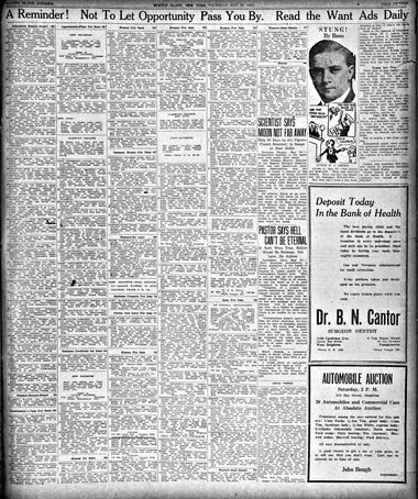 Advance historic page from May 24, 1923.