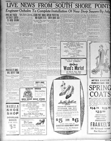 Advance historic page from April 17, 1925.