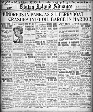 Advance historic page from April 3, 1923.