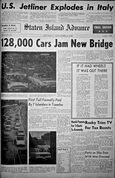 Advance historic page from Nov. 23, 1964.