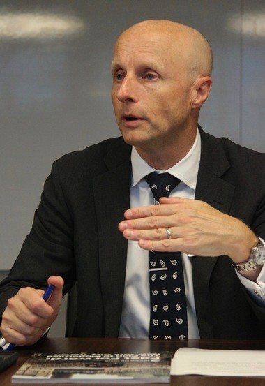 MTA NYC Transit President Andy Byford at a recent Advance editorial board with the MTA. (Staten Island Advance/Steve Zaffarano)