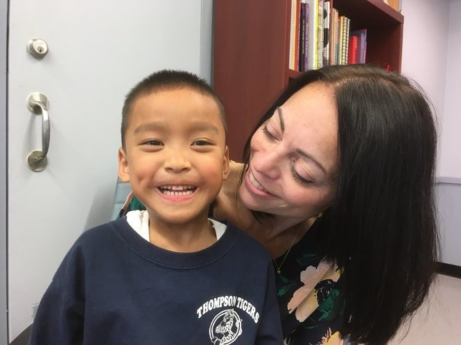 "Barbara Sylvester appreciates the special care her adopted son Aidan receives at PS 52. ""I feel blessed,"" she said during a visit to the school. (Staten Island Advance/Claire Regan)"