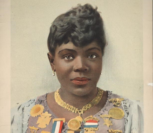 """An 1889 poster promotes Sissieretta Jones, the first African-American to sing, in 1892, at Carnegie Hall. She is featured in """"Olio,"""" Tyehimba Jess's book of poetry. (Wikimedia Commons)"""