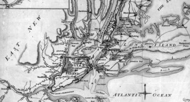 Geographically, if one were to draw a line from north to south through the Hudson River, Staten Island lies to the West and historically it belonged to New Jersey. The border was disputed for years.