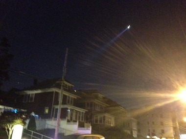 NYPD helicopter illuminates Kissel Avenue at Castleton Avenue as police hunt suspect in drug deal.