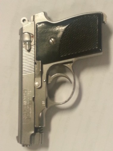 The .25 caliber Norton handgun police charged Ramsey Orta with illegally possessing on Saturday, Aug. 2. (Photo provided by NYPD)