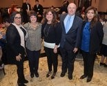 "Community Above Self Honoree Nazareth Laursen; family members ofLifetime Service Honorees Robert and Marycatherine Farrell: Marion Anderson, Roberta DiVuolo and Thomas Farrell with board member Sadia Malik at the Salvation Army's "" The Army at 150"" Spring Bennefit Thursday, April 9, 2015 at the Staaten. (Staten Island Advance/Bill Lyons)"