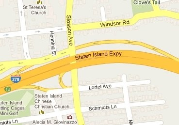 The accident is being reported on Slosson Avenue, under the Staten Island Expressway overpass, according to emergency radio transmissions.