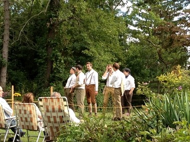"The grounds of Seguine Mansion in Prince's Bay are the perfect setting for William Shakespeare's pastoral comedy ""As You Like It,"" as performed by the visiting Castle Theatre Company of Durham University of the U.K."
