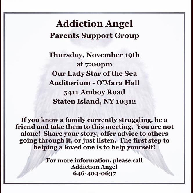 Support group for families struggling with drug addiction