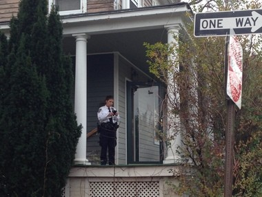 The NYPD is responding Wednesday afternoon to a report of a home invasion on Amboy Road in Great Kills.