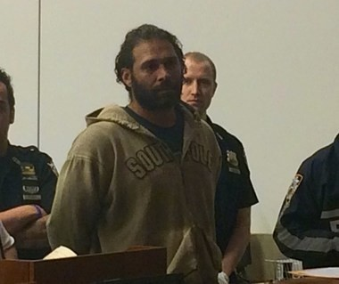 James Rizzo Jr., seen at his Criminal Court arraignment in October 2017, was sentenced to six months in jail, five years' probation and ordered to pay $850 restitution after pleading guilty to a hate crime for scrawling anti-Semitic graffiti on a neighbor's garage door in Rossville. (Staten Island Advance)