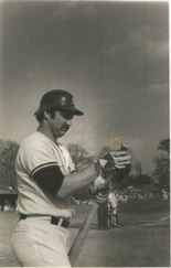 This was Thurman Munson in Tuscaloosa in 1978 ... Yankees played an exhibition against Alabama at Capstone.