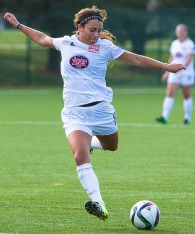 Jackie Bruno prepares to strike while playing for NJ Copa FC