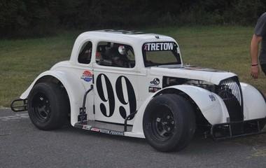 Joseph Costello Jr. testing out his legend car in North Carolina.