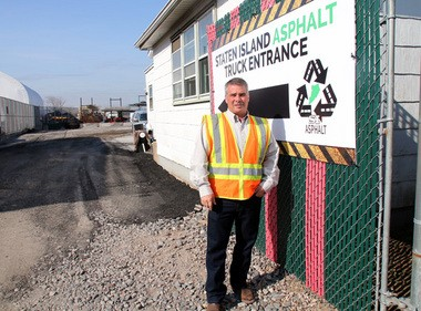 Richard Martucci of Staten Island Asphalt poses for a photo outside the Meredith Avenue facility. Thursday March 24, 2016.