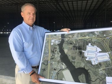 Joseph S. Taylor, president and CEO of the Cranbury, N.J.-based Matrix Development Group with designs for the 200-acre site. (Staten Island Advance/Tracey Porpora)